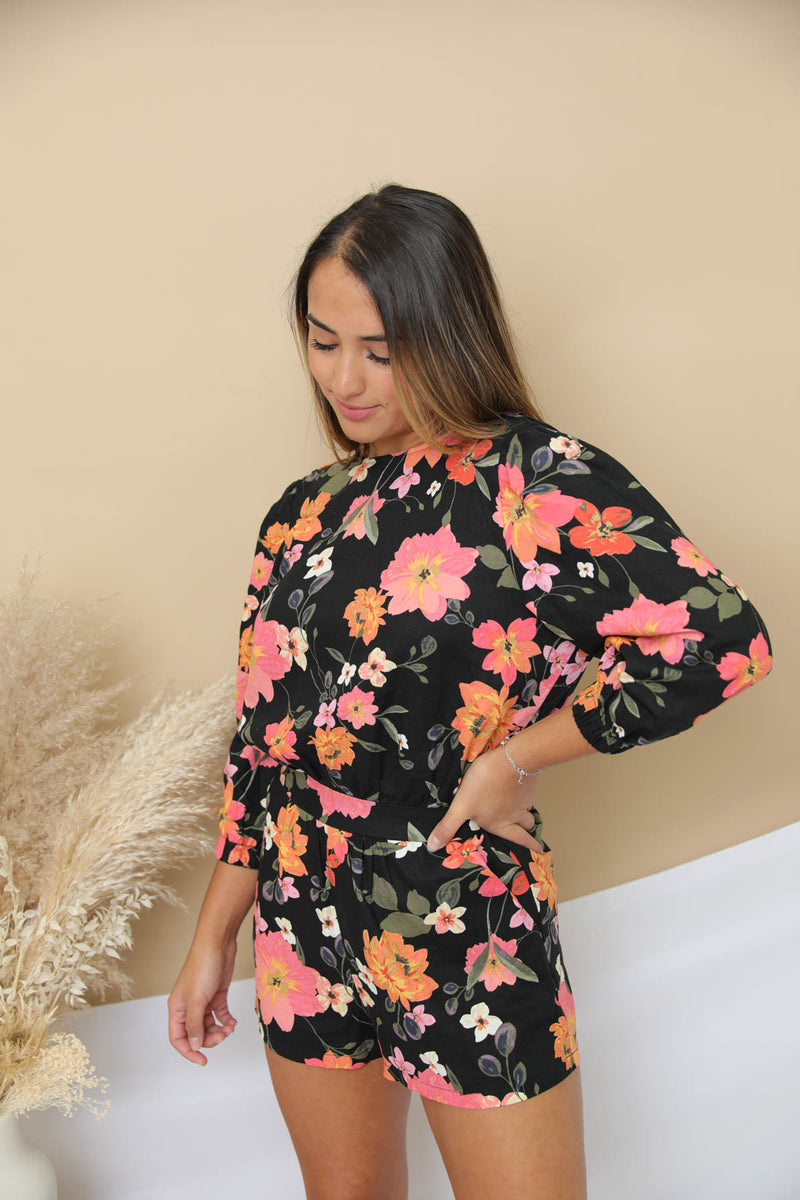Catching Hope Floral Romper