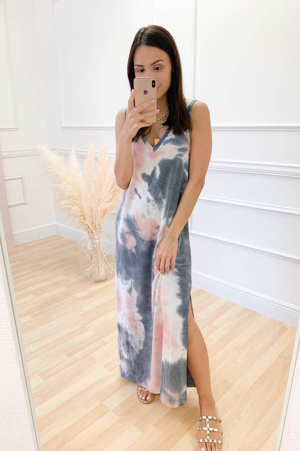 Leave It Behind Tie Dye Dress