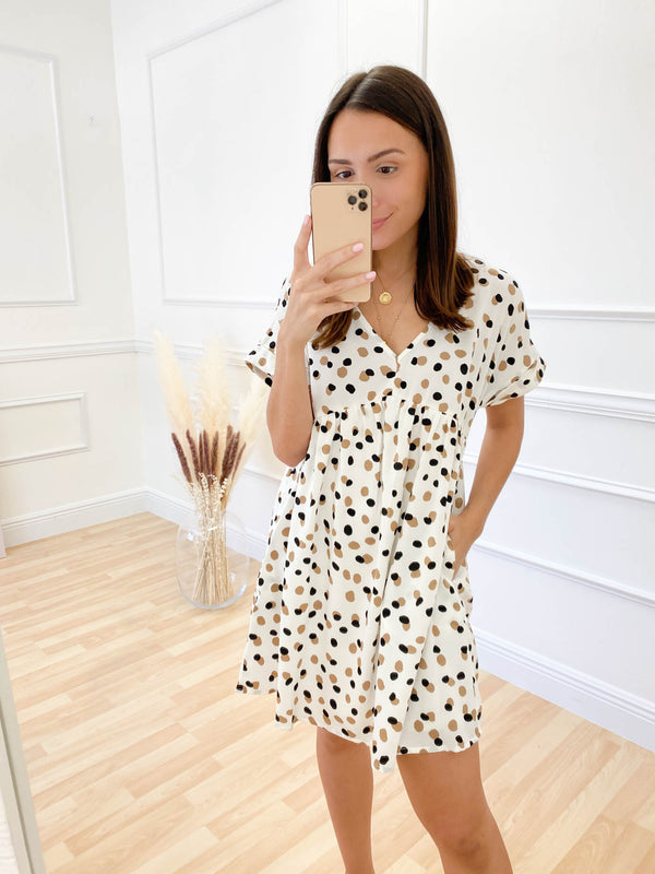 Never Too Late Ivory Dress