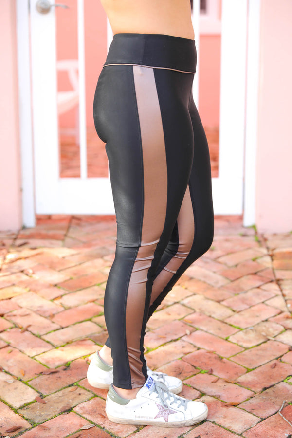 On A Quick Run Tuxedo Leggings