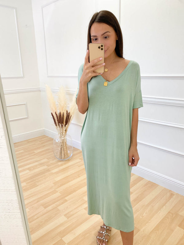 I'm Around Mint Dress
