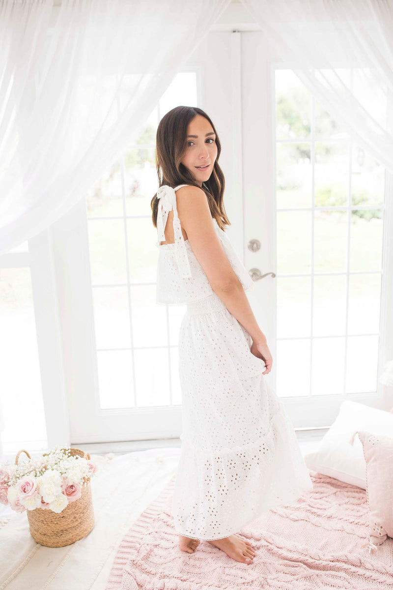 This Is Our Fate White Eyelet Dress
