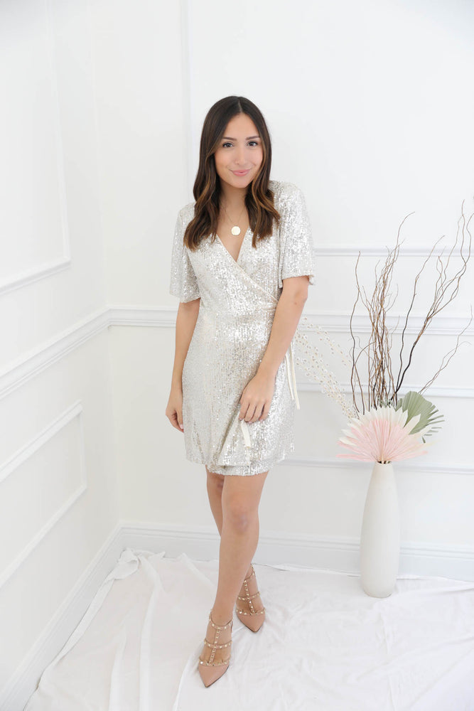 Pour The Champagne Sequin Dress