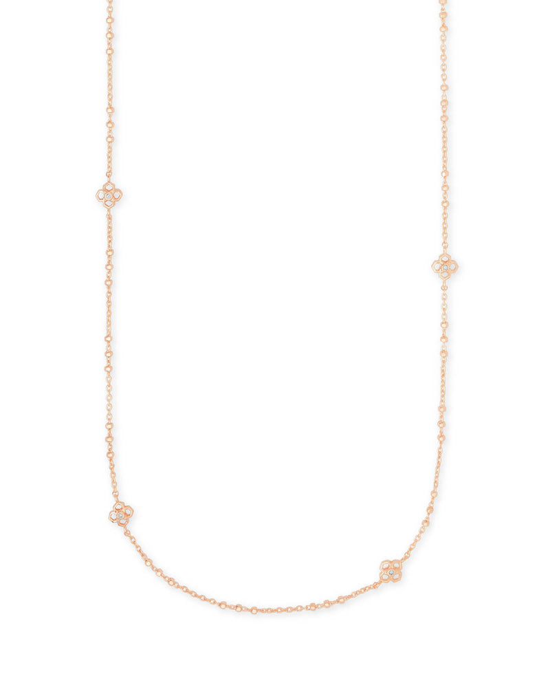Kendra Scott Rue Long Strand Necklace - Rose Gold