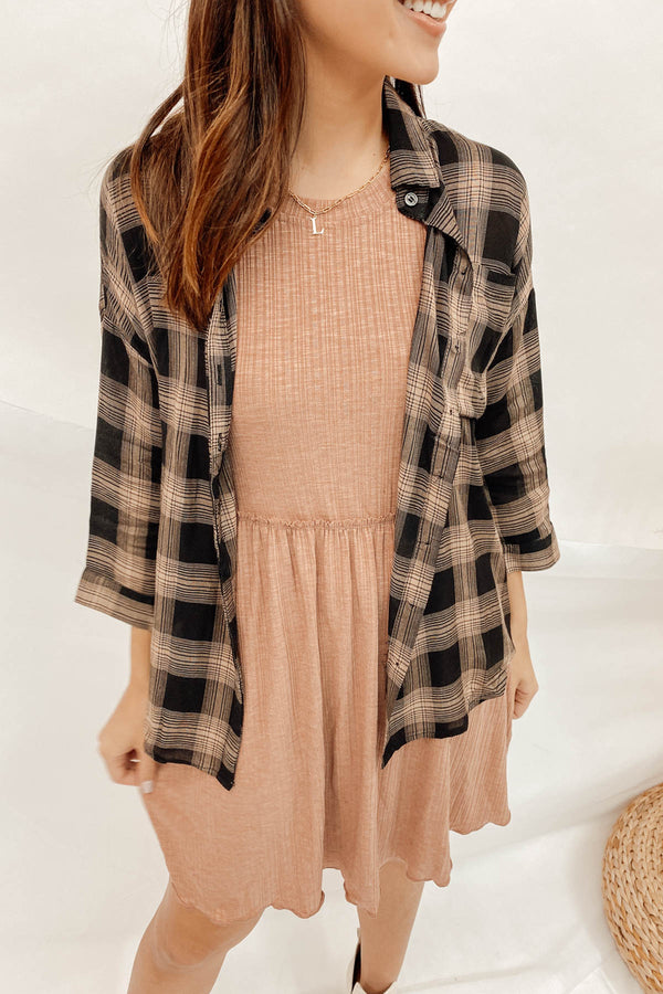 Late Fall Nights Flannel Top