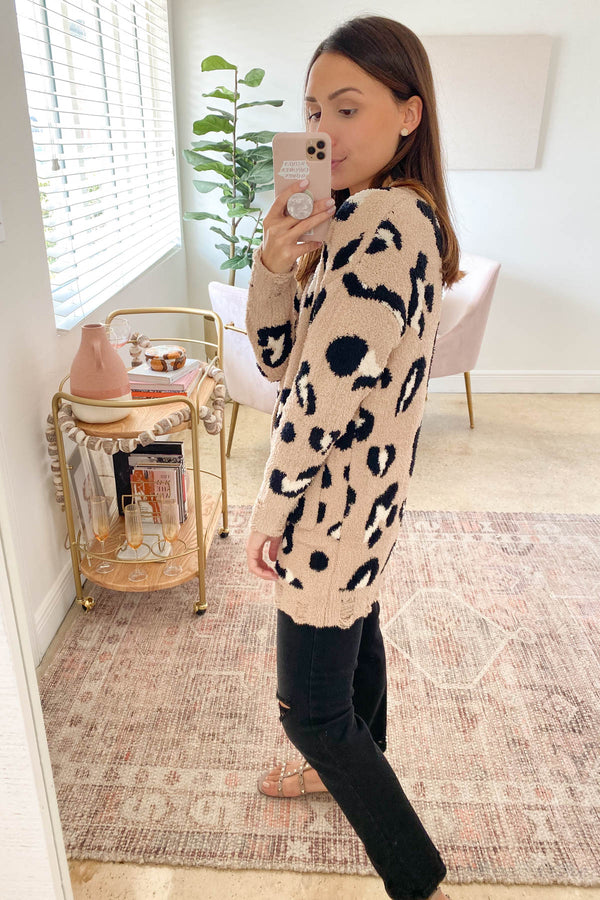 Treat You Better Mocha Leopard Cardigan