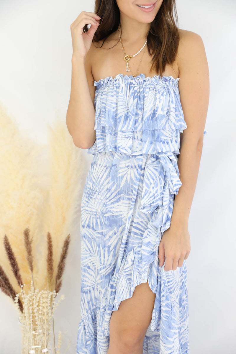 Nothing But Blue Skies Maxi Dress