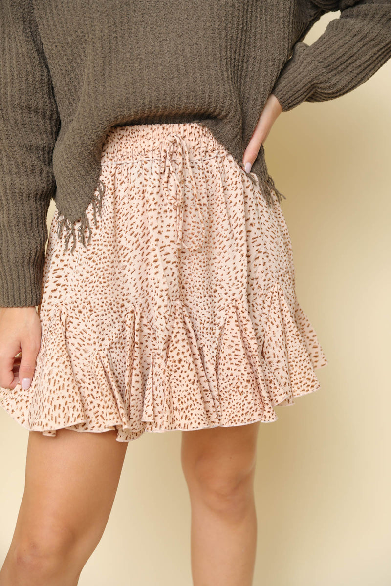 New To Town Printed Skirt