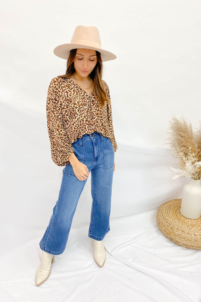 Wild Thing Leopard Blouse