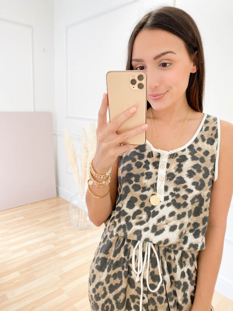 Lose Somebody Leopard Jumpsuit