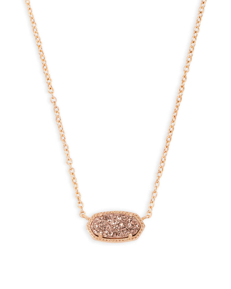 Elisa Necklace - Rose Gold Drusy