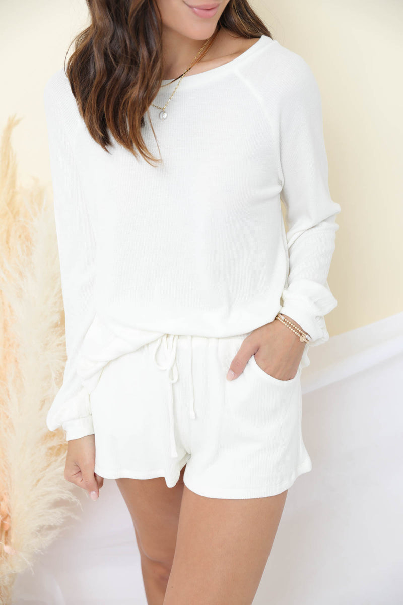 What You Do To Me White Loungewear Set