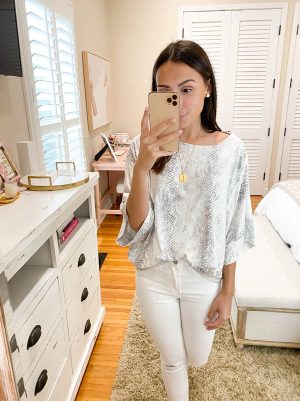 Summer Bliss Snakeskin Top