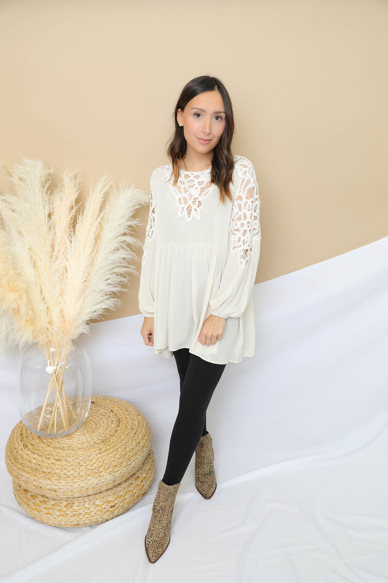 I Will Wait Lace Tunic