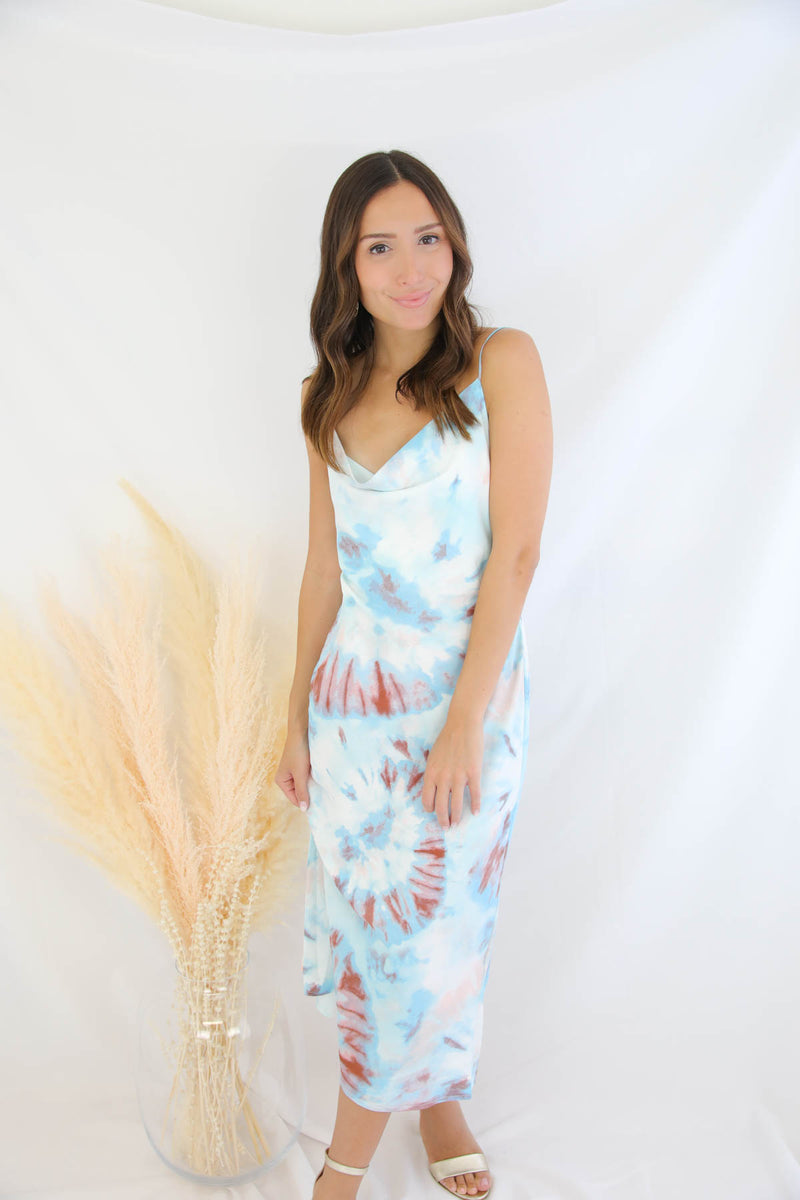 My Moment Tie Dye Midi dress