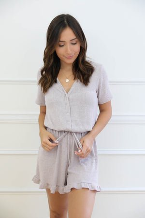 Lose Track Of Time Romper - Blush