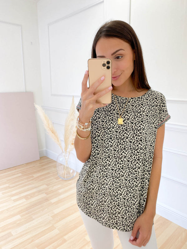 Not Holding Anything Back Printed Top