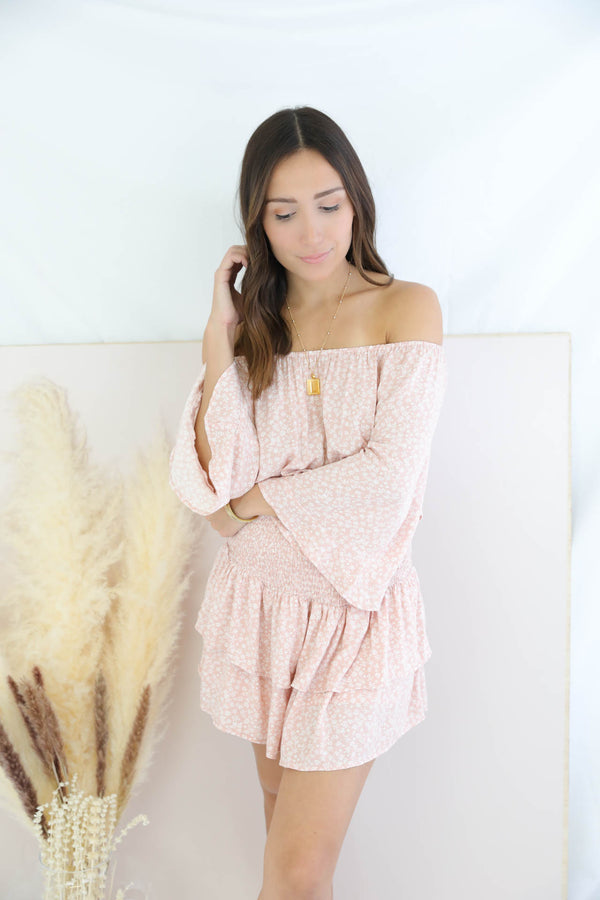 Santa Monica Blush Romper