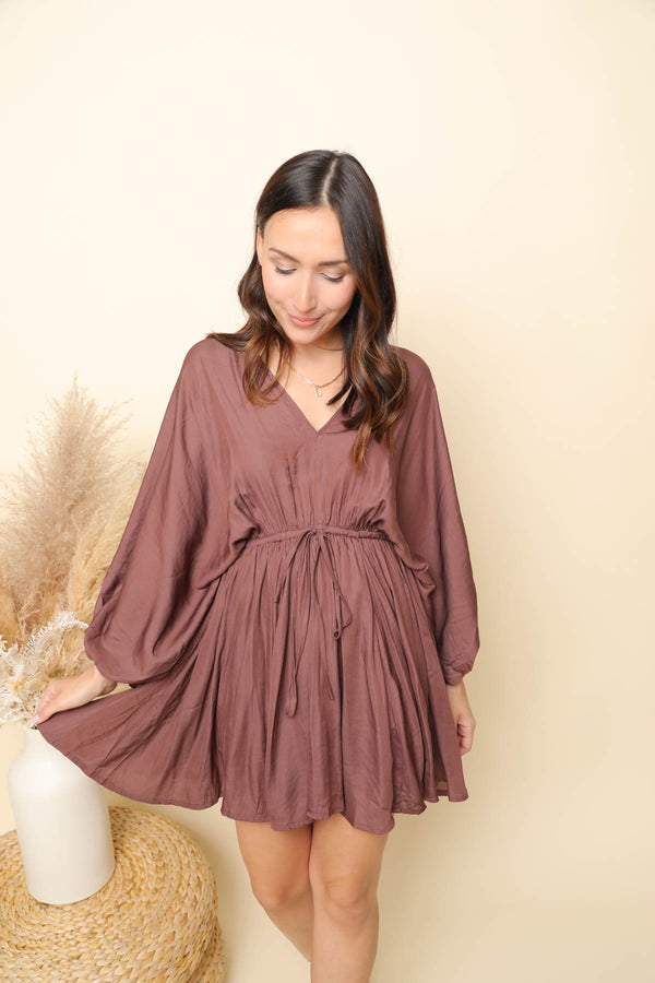 Seasons Change Brown Dress