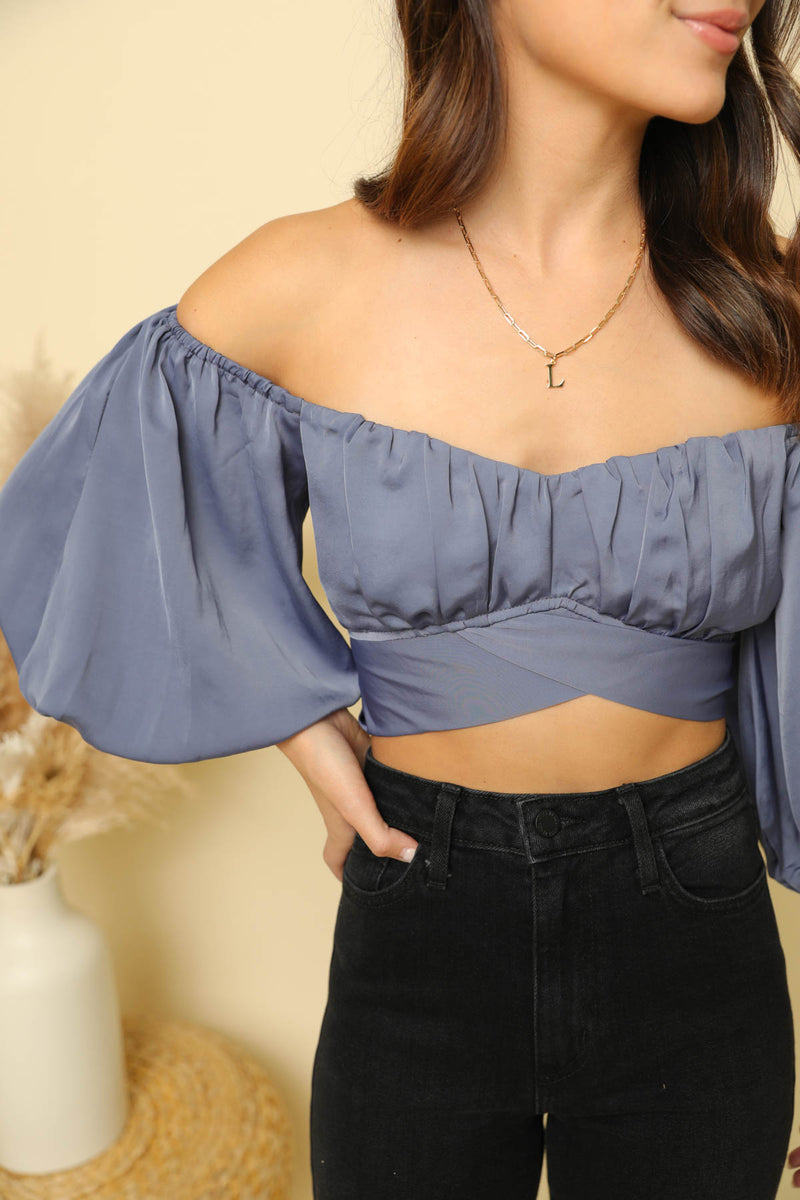 Love Story Midnight Blue Top