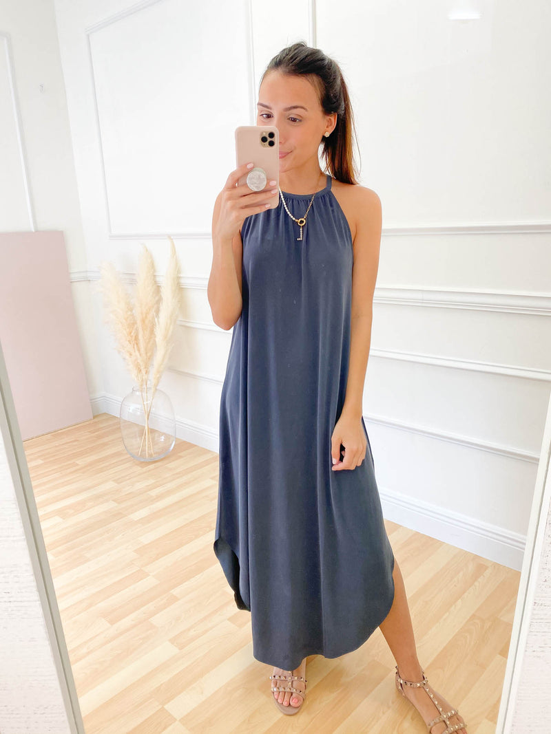 Right On Time Midi Dress - Midnight Blue