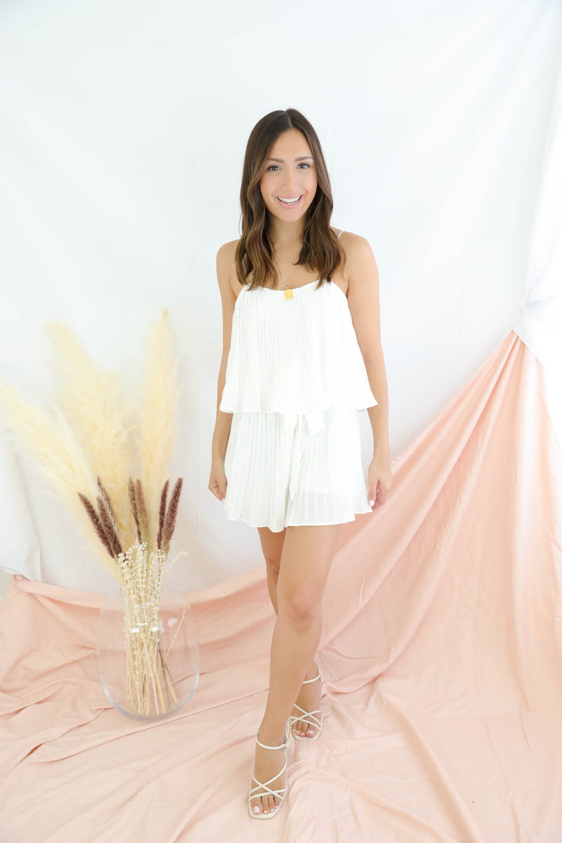 I Found You White Romper