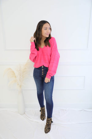Small Talk Pink Sweater