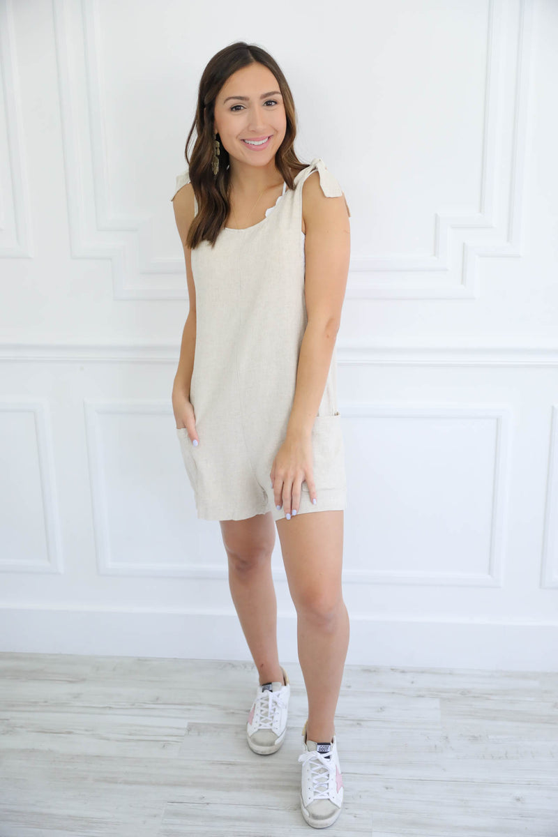 Sand In My Hair Linen Romper
