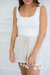 Gabrielle Square Neck Tank - White