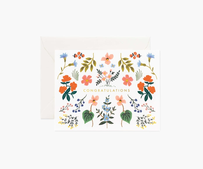 Rifle Paper Co. Wildflower Congrats Card