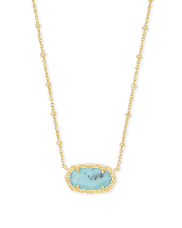 Kendra Scott Light Blue Magnesite Elisa Satellite Pendant Necklace