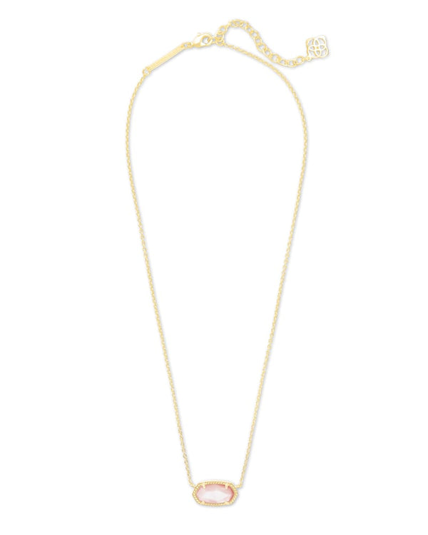 Kendra Scott Rose Mother Of Pearl Elisa Satellite Pendant Necklace