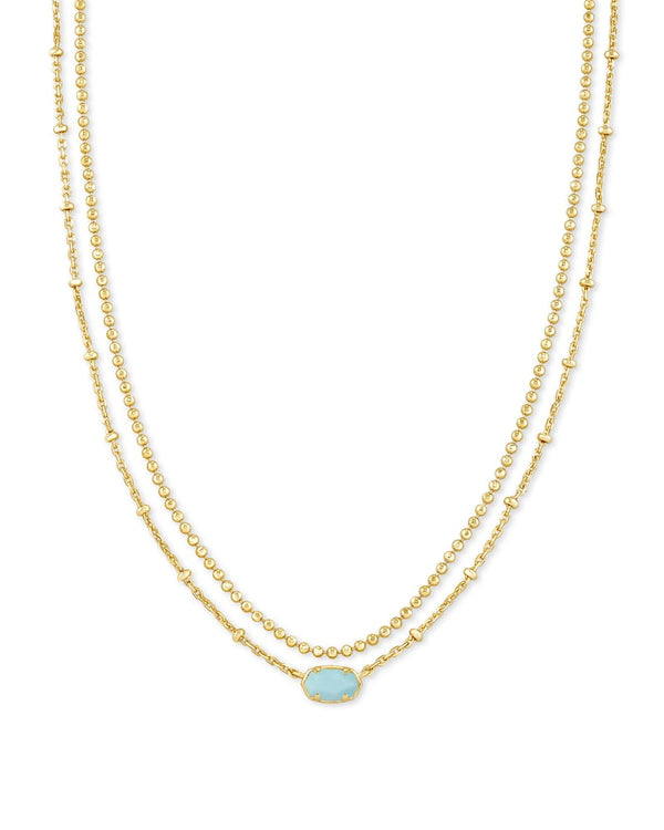 Kendra Scott Light Blue Magnesite Emilie Multi Strand Necklace