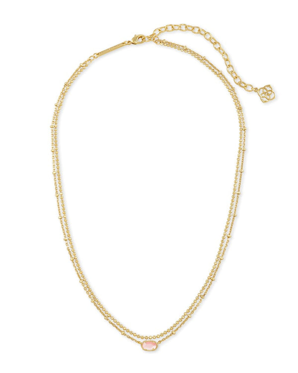 Kendra Scott Rose Mother of Pearl Emilie Multi Strand Necklace