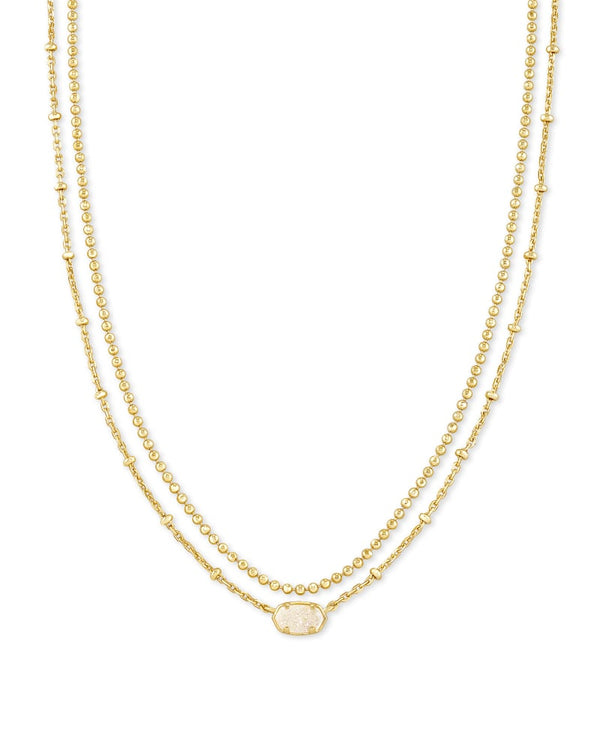 Kendra Scott Iridescent Drusy Emilie Multi Strand Necklace