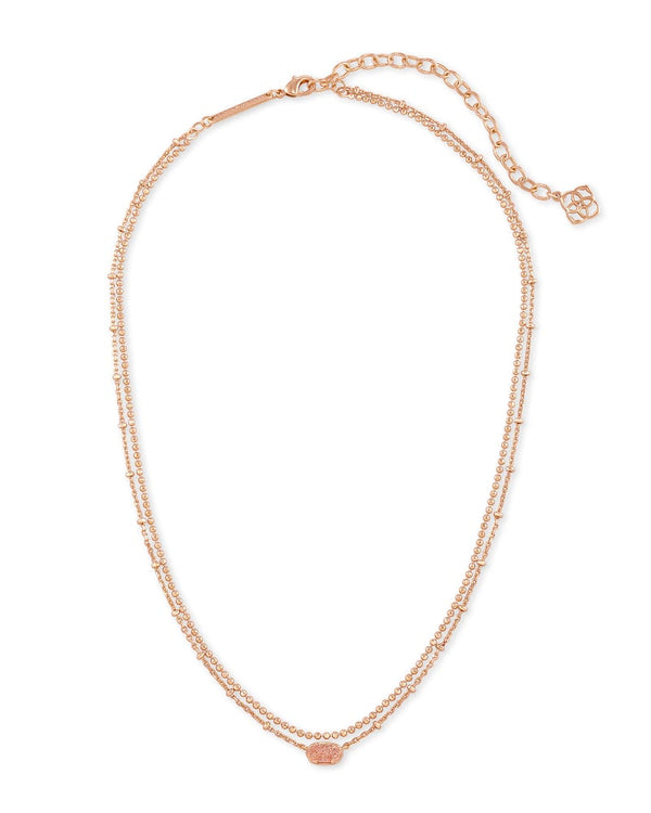 Kendra Scott Sand Drusy Emilie Multi Strand Necklace