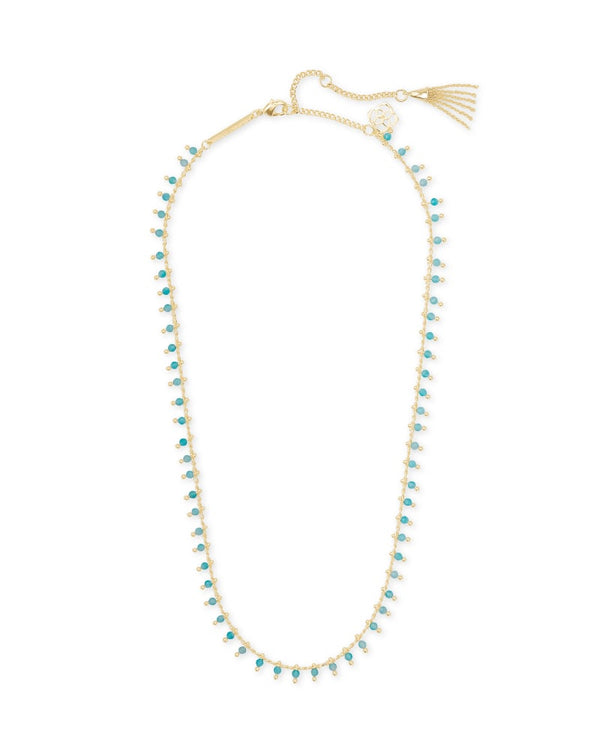 Kendra Scott Jenna Teal Amazonite Choker Necklace