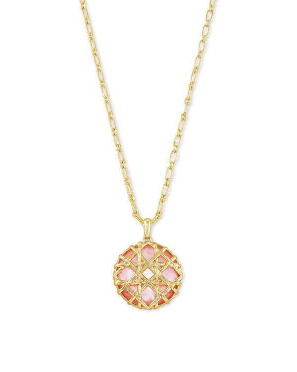 Kendra Scott Rose Mother of Pearl Natalie Pendant Necklace