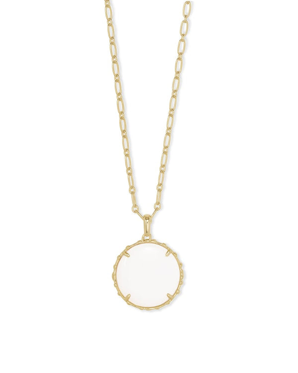 Kendra Scott White Mussel Natalie Pendant Necklace