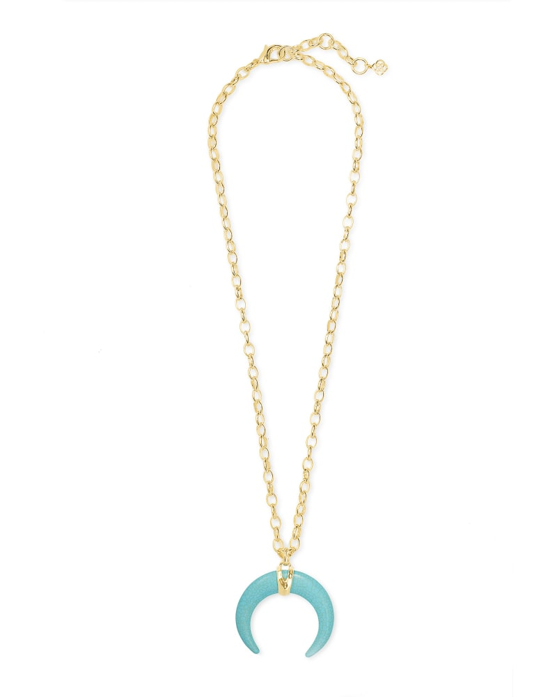 Kendra Scott Variegated Turquoise Magnesite Rebecca Long Pendant Necklace