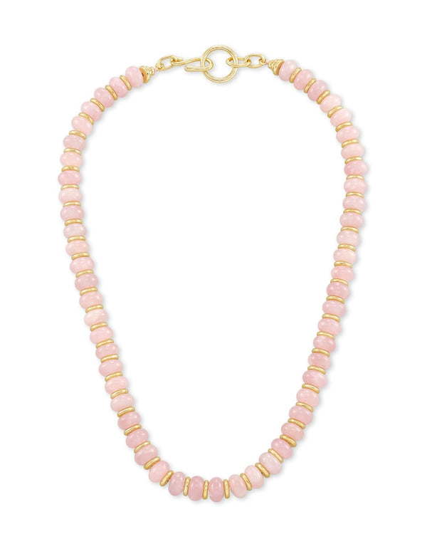 Kendra Scott Rose Quartz Rebecca Strand Necklace