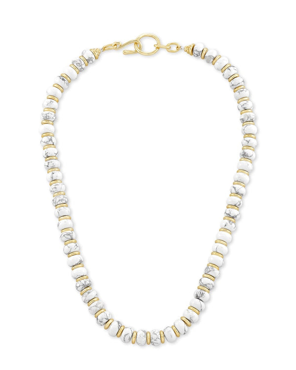 Kendra Scott White Howlite Rebecca Strand Necklace