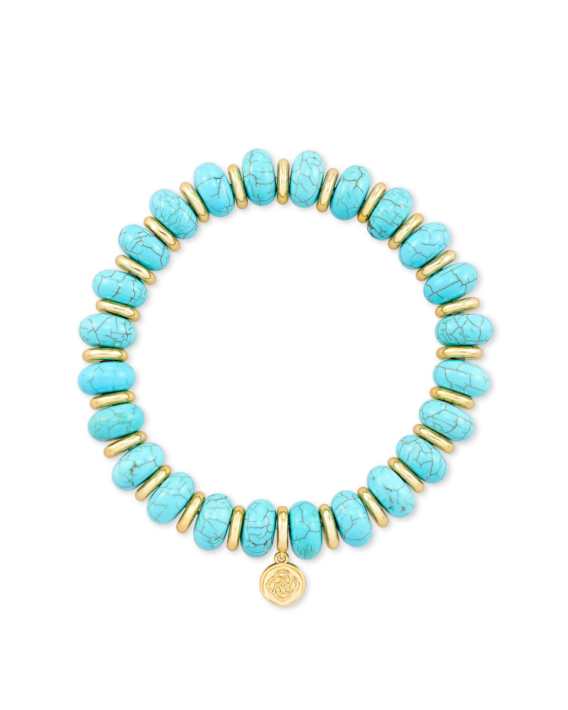 Kendra Scott Rebecca Variegated Turquoise Stretch Bracelet