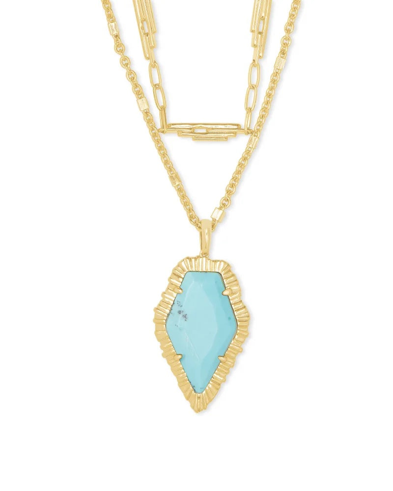 Kendra Scott Tessa Multi Strand Necklace - Light Blue Magnesite