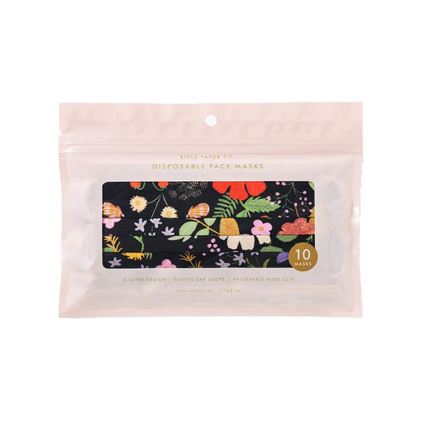 Rifle Paper Co. Strawberry Fields Disposable Face Masks