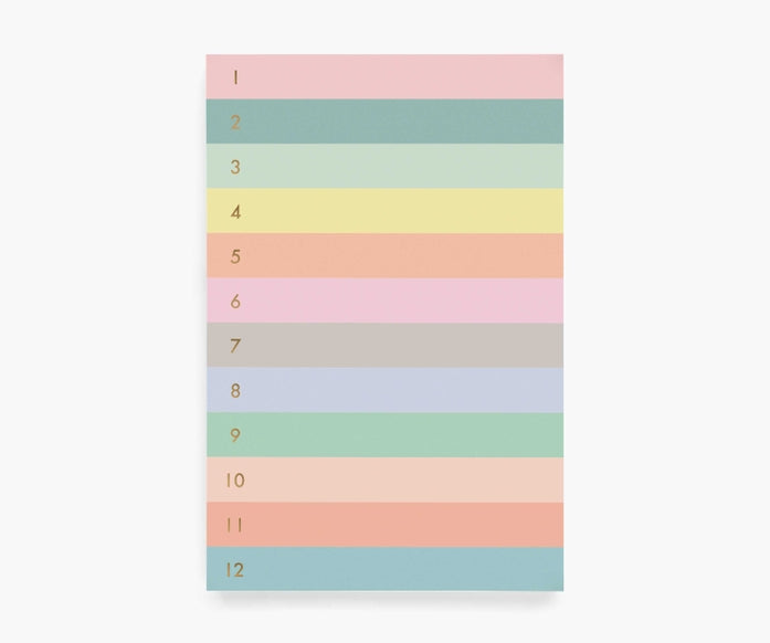 Rifle Paper Co. Numbered Colorblock Large Memo Notepad