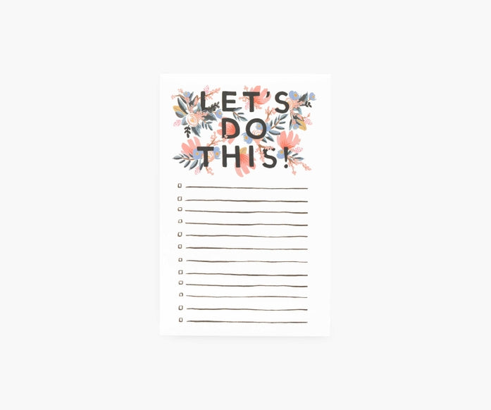 Rifle Paper Co. Let's Do This Checklist Notepad
