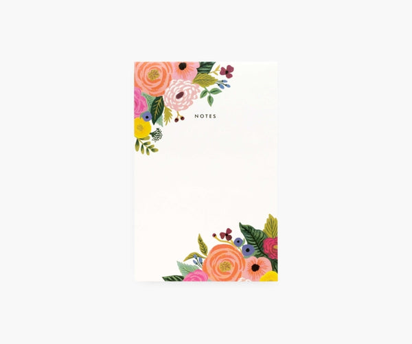 Rifle Paper Co. Juliet Rose Blank Notepad