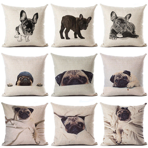 Sexy Pug Pillow Cover series - 12 Styles