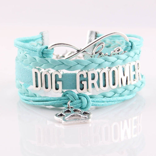 Dog Groomer Puppy Charm Bracelet - 5 Color Variations
